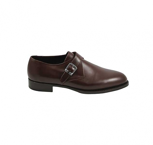 Chocolate <br>Brown - Single Monk Strap