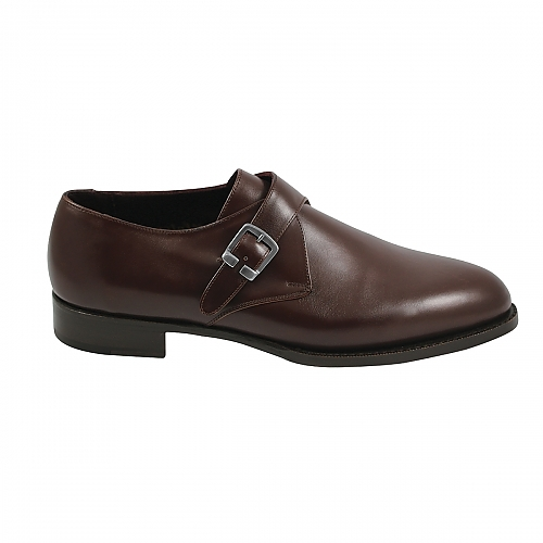 Chocolate Brown - Single Monk Strap