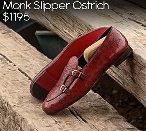- Monk Slipper Ostrich