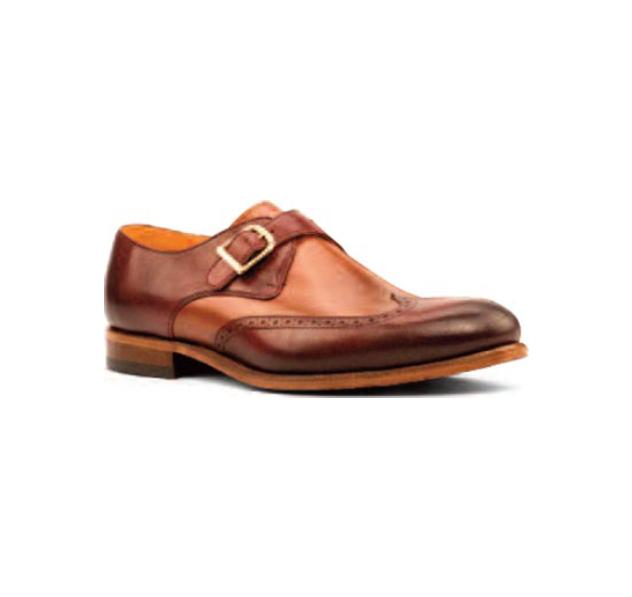 Brown/Tan Leather - Single Monk Wingtip