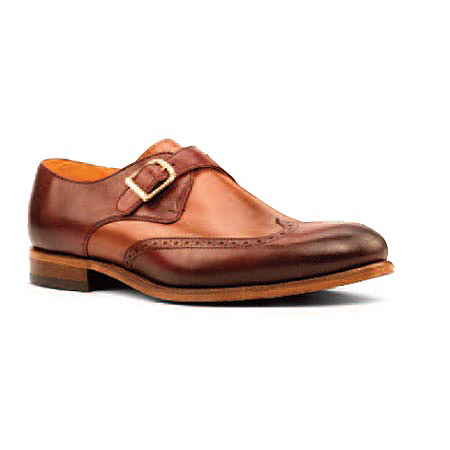 Brown/Tan Leather - Single Monk Wingtip
