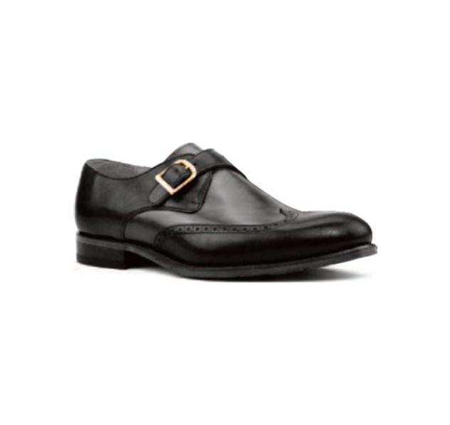 Black Leather - Single Monk Wingtip