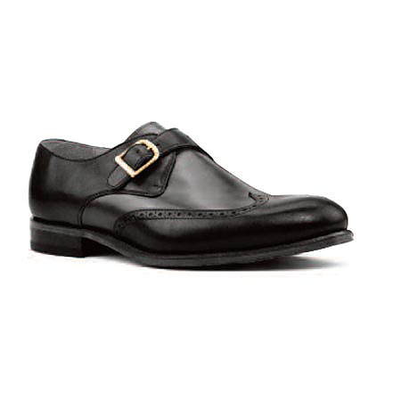 Black Leather - Single Monk Wingtip