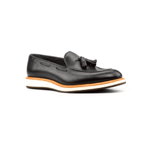Navy Leather - Sport Loafer
