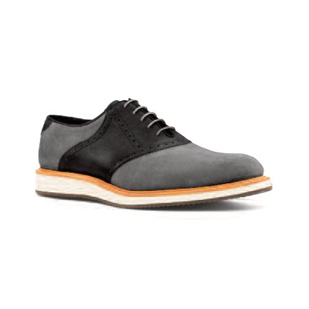 Black Nubuck and Black Leather - Sport Saddle
