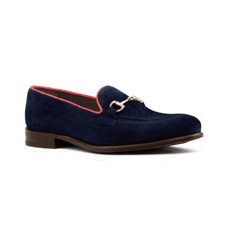 Navy/Red - Swivel Loafer