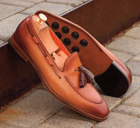 Antique Tan Leather - Tassel Loafer