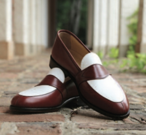Russo/<br> White Leather