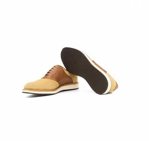 Cream <br>Nubuck & Tan <br>Leather - Sport Saddle