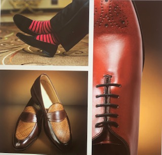 three leather shoes