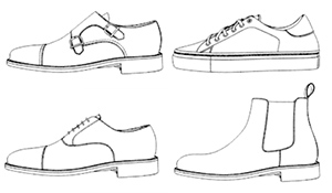 diagram of shoes