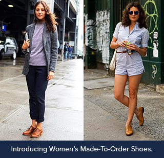 women wearing made-to-order shoes